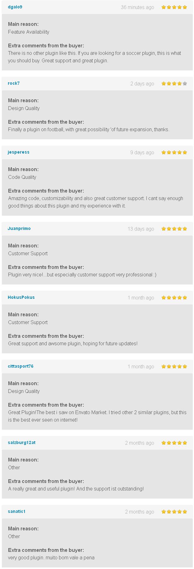 Soccer Engine WordPress Plugin Comentarios